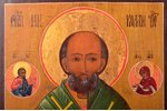 icon, Saint Nicholas the Miracle-Worker, board, silver, painting, guilding, 84 standart, Russia, 188...