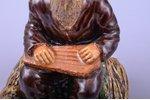 figurine, Kokle player, ceramics, Riga (Latvia), sculpture's work, by Jāzeps Pancehovskis, h 16 cm,...