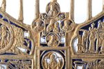 cross, The Crucifixion of Christ, copper alloy, 2-color enamel, Russia, the end of the 19th century,...