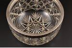fruit dish, silver, 84 standart, crystal, 1908-1917, St. Petersburg, Russia, Ø 24 cm, h 13.8 cm...