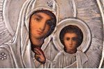 icon, Our Lady of Kazan, silver, painting, 84 standart, by Grigoriy Sbitnev, Russia, the end of the...