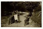 photography, motorcyclists, Latvia, 20-30ties of 20th cent., 13,7x8,6 cm...