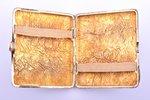 "cigarette case, silver, 830 standart, ""Nugget"", gilding, 1952, 140.15 g, Turku, Finland, 9.7 x 9 x 1..."