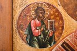 icon, Saint Nicholas the Miracle-Worker, board, painting, guilding, Russia, 31 x 26.7 x 2.3 cm...