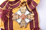 The Order of the Lithuanian Grand Duke Gediminas, 1st class, silver, enamel, Lithuania, the 30ies of...