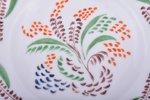 decorative plate, floral ornament, porcelain, State porcelain manufacture (LFZ), hand-painted, USSR,...