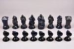 Figurines for playing chess, porcelain, Riga (Latvia), Riga porcelain factory, 1940-1941, 9-11 cm...