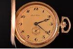 """kabatas pulkstenis, """"Paul Buhre"""", Krievijas impērija, Šveice, zelts, 56, 14 K prove, 73.80 g, 6.1 x..."""