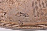 diskoss, sudrabs, 84 prove, māksliniecisks gravējums, 1872 g., 322.10 g, Dmitrija Ivanoviča Orlova f...