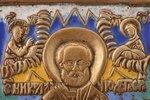 icon, Saint Nicholas the Wonderworker, copper alloy, 6-color enamel, by Rodion Khrustalev, Russia, t...