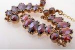 a necklace, gold double, 7.79 g., the item's dimensions 48.5 cm, garnet...