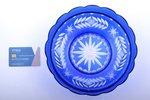 candy-bowl, Iļģuciems glass factory, Latvia, the 20-30ties of 20th cent., Ø 23.5 cm...