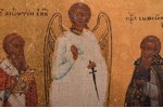 three-part icon, Mother of God (two parts), The Guardian Angel and Saints, board, painting, guilding...