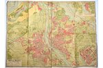 map, Riga plan, published by J. Roze, Latvia, 20-30ties of 20th cent., 66 x 88.5 cm, torn and glued...