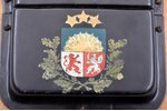 bell, PTVGD, State Border Guard(?), with coat of arms of Latvia, wood, metal, Latvia, the 20-30ties...