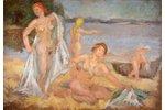 "Romane Erika (1920-2002), ""Swimmers"", ~1950, canvas, oil, 71 x 103 cm..."