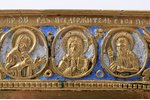 icon, Saint martyrs Quriaqos and Julietta, copper alloy, 2-color enamel, Russia, the border of the 1...