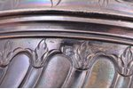 service of 3 items (small size): coffeepot, sugar-bowl, cream jug, silver, 950 standart, 613.95 g, (...