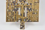 cross, The Crucifixion of Christ, bronze, 2-color enamel, Russia, the beginning of the 20th cent., 3...