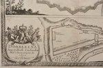map, Mitava (Urbs et Arx Mitovia Sedes Celsis), Latvia, 1659, 25 x 31.4 cm, in a frame...