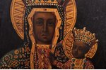 icon, Mother of God, guilding, painted on zinc, France, 21.2 x 11.8 x 1.9 cm...