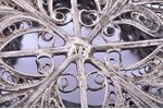 basket, silver, 84 standart, filigree, 1874, 30.88 g, Russia, 5.9 x 6.2 cm, h (with handle) 6.7 cm...