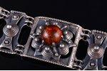 a bracelet, silver, 925 standart, 70.37 g., amber, Kalupe, Canada, bracelet lenghth 19.8 cm...