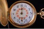 pocket watch, Switzerland, gold, 585, 14 K standart, 25.57 g, 3.9 x 3.1 cm, 31 mm...