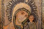 icon, Mother of God, lithography on tin, board, Latvia, 15.3 x 12.8 x 0.5 cm...