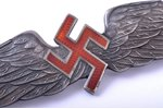 badge, Aviation Regiment, 10 years of service, silver, 875 standart, Latvia, the 30ies of 20th cent....