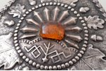 sakta, with amber, silver, 875 standart, 15.31 g., the item's dimensions 6.9 x 6.7 cm, the 20ties of...