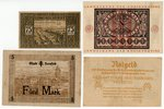 a set, banknote, 6 pcs., city magistrates, Germany, the beginning of 1920-ties...