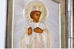 icon with foldable side flaps, Chosen saints, silver, painting, guilding, 84 standart, Russia, 1880-...