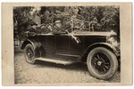 passenger car horn, photo, the 20-30ties of 20th cent., 56.5 cm, the horn was placed on the car show...