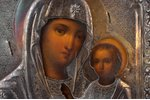 icon, the Iveron Mother of God, board, silver, painting, 84 standart, Russia, 1864, 31.4 x 26.8 x 3...