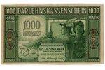 1000 markas, banknote, Ost, Kowno, 1918 g., Latvija, Lietuva, XF...