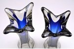 vāžu pāris, Līvānu stikla fabrika, Latvija, h 35.2 / 34.5 cm...