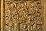 icon with foldable side flaps, copper alloy, Russia, the border of the 19th and the 20th centuries,...