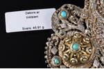 a belt clip, silver, 84 standart, 45.91 g., the item's dimensions 8 x 6.6 cm, turquoise, 1896-1907,...