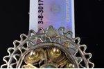 buttons, 2 pcs., silver, 84 standart, 7.57 (3.62 + 3.95) g., the item's dimensions Ø 2.3 / 2.4 cm, t...