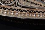a belt clip, silver, 84 standart, 53.05 g., the item's dimensions 17.8 x 5.3 cm, 1908-1917, Russia...