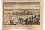 Siege de Thoorn par les Suedois en 1703 - Toruņas (Polija) aplenkums 1703. gadā, papīrs, gravīra, 12...