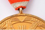 medal, of honour of the Cross of Recognition, 1st class, silver, guilding, 875 standart, Latvia, 20-...