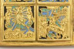 icon with foldable side flaps, Great Feasts, copper alloy, guilding, 3-color enamel, Russia, the bor...