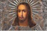 икона, Господь Вседержитель, доска, серебро, живопиcь, 84 проба, мастер Богданов Трофим Семенов, Рос...