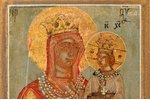 icon, Mother of God Novodvorskaya, board, guilding, Russia, 17.5 x 12.7 x 2.1 cm, icon is possibly s...