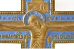 cross, The Crucifixion of Christ, copper alloy, 1-color enamel, Russia, the border of the 19th and t...