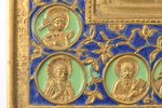 icon, Jesus Christ the Blessed Silence, copper alloy, 4-color enamel, Russia, the 19th cent., 15.3 x...