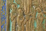 icon, Protection of the Mother of God, copper alloy, 4-color enamel, by Rodion Khrustalev, Russia, t...