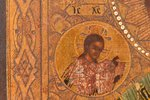 icon, Saint Nicholas the Miracle-Worker, board, painting on gold, Russia, 17.5 x 14 x 1.8 cm...